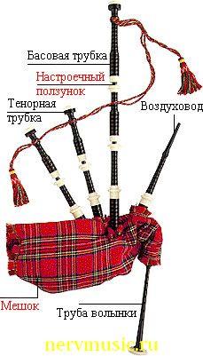 Волынка шотландская | Музыкальная энциклопедия от А до Я | Музыкальные инструменты