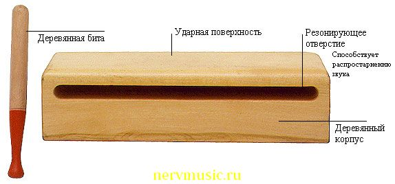 Древесная колода | Музыкальная энциклопедия от А до Я | Музыкальные инструменты