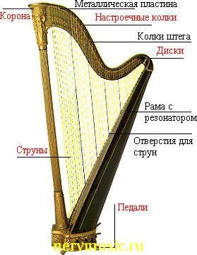 Арфа | Музыкальная энциклопедия от А до Я | Музыкальные инструменты